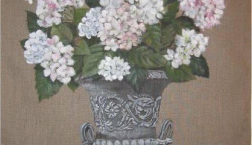Propose toiles de lin peintes à la main