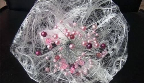 Propose Bouquet mariée, demoiselle d'honneur fait en perles rose