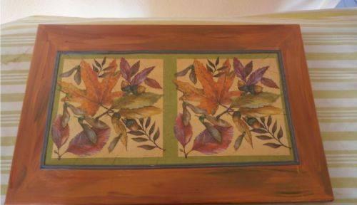 """Tableau peint à la main """"feuilles d'automne"""""""