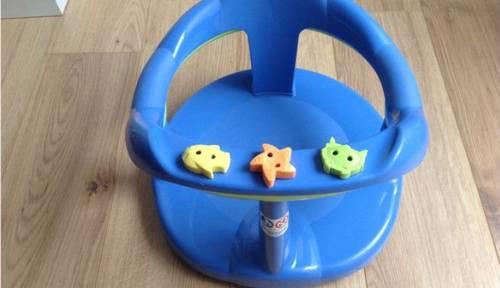 Vends Aquababy, anneau siège de bain bébé bleu