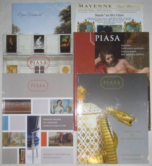 5catalogues vente Piasa tableaux objets d'art mobilier ancien B