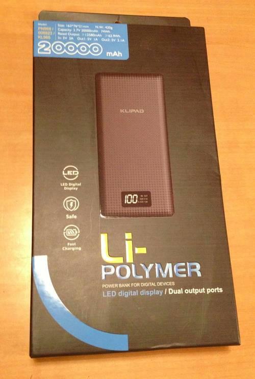 20000mAh Power Bank Klipad batterie de secours multimedia neuve