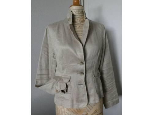 Vends veste en lin Soft Grey taille 40
