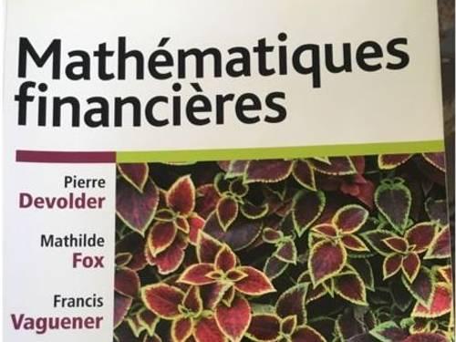 """Vends Livre: """"Mathématiques Financières"""", P. Devolder, M. Fox, F. Vaguener"""