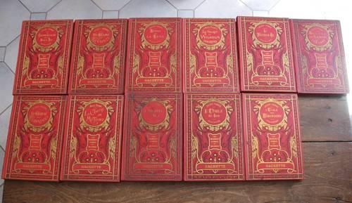 Livres de Jules Verne, les voyages extraordinaires, édition Hachette