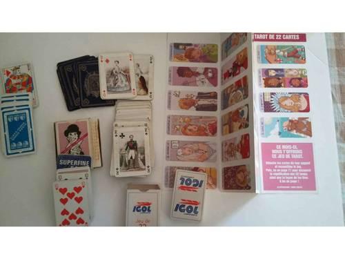 5jeux de cartes dont 2complètements neufs
