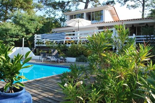Loue Villa Pyla Luxe 300m plage vue mer piscine chauffée 13couchages