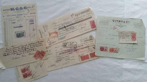8bordereaux de paiements ou factures, 1947