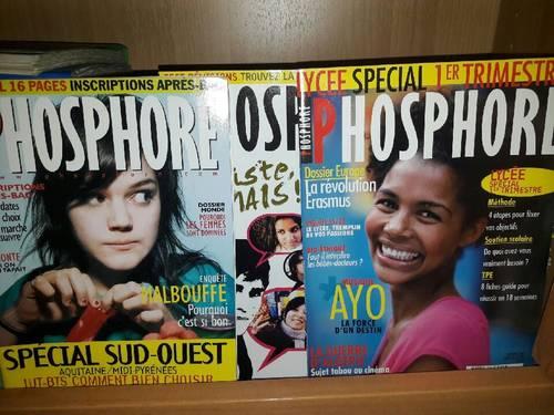 52numéros de la revue Phosphore des années 2000à 2008