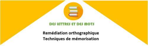Cours orthographe et techniques de mémorisation sur Saint Avertin