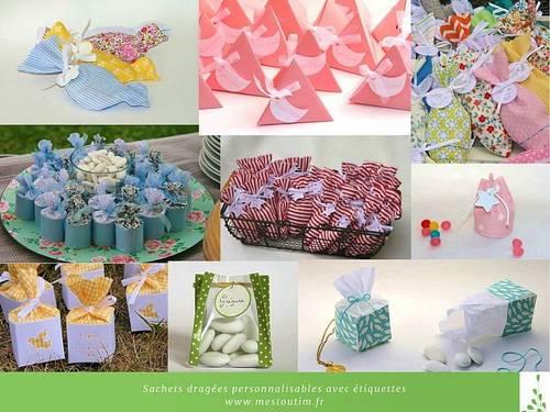 Propose confection sachets dragées/bonbons