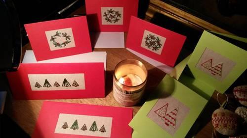 "Vente de Noël ""Cartes brodées """