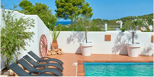 Loue maison 8couchages, 4chambres, 5mn de la plage, Ibiza