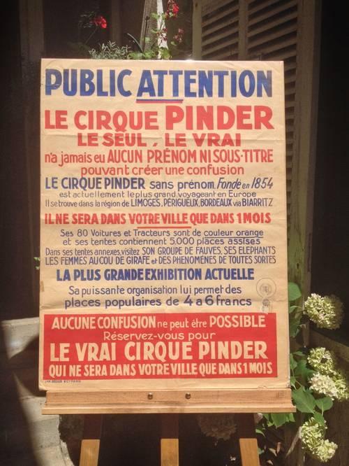 Rare affiche du cirque PINDER