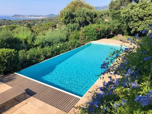 Loue villa la Croix Valmer - piscine vue mer - 4chambres 8couchages