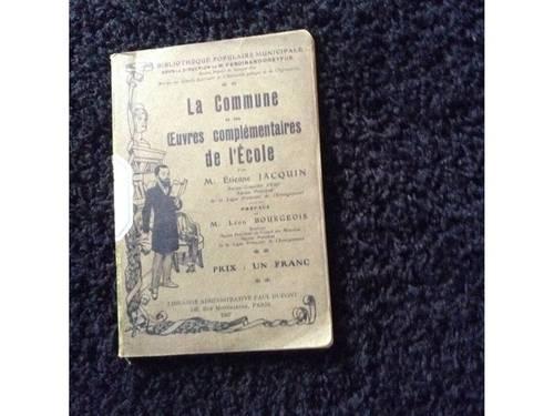 Manuel ancien: La Commune et les œuvres complémentaires de l'Ecole