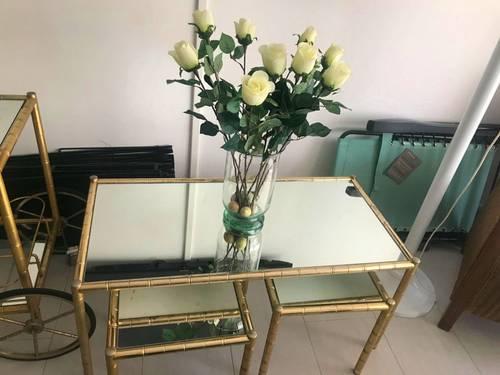 Vends ensemble tables et desserte chariot Lancel vintage