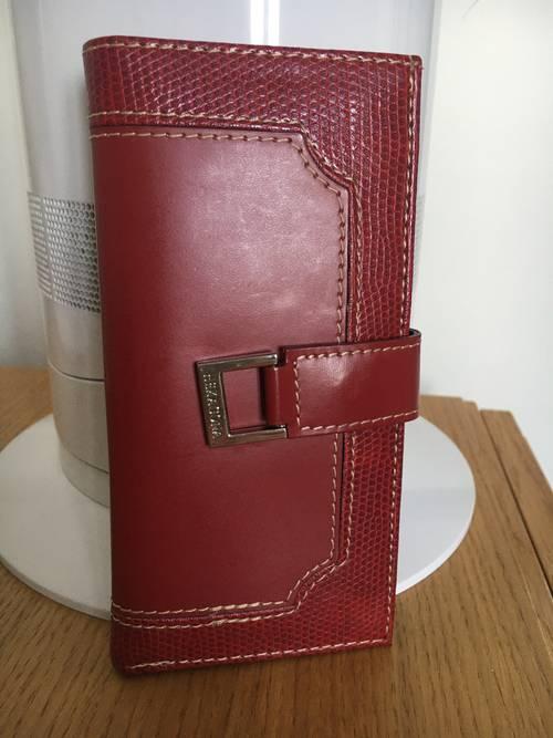 Portefeuille/ cartes Hexagona en cuir neuf
