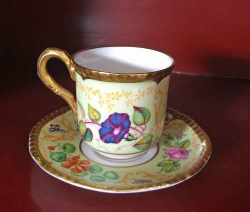 Vintage Royal Worcester Samuel Astles English flowers tasse à café