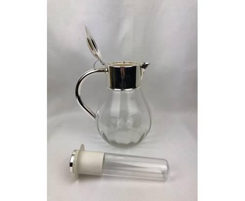 Vends carafe verre + métal argenté + réservoir glaçons