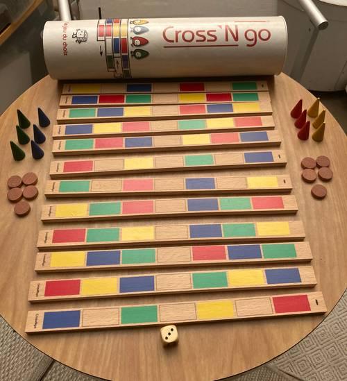 Jeu familial en bois (stratégie) Cross N'go - Médaillé Lépine