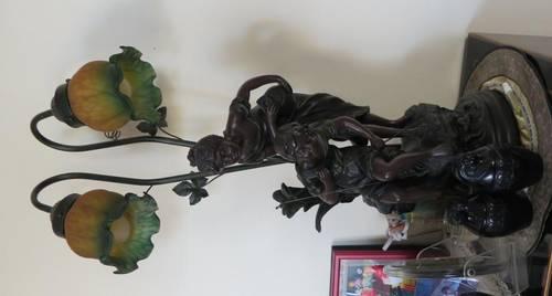 Lampe style Art Nouveau 1900