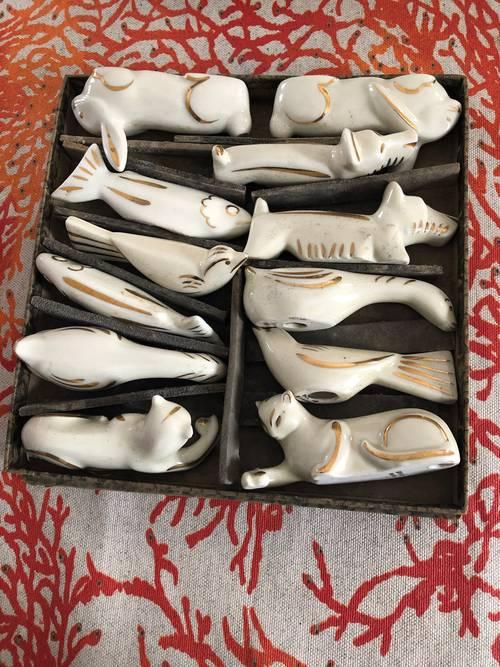 Porte-couteaux en porcelaine de Limoges
