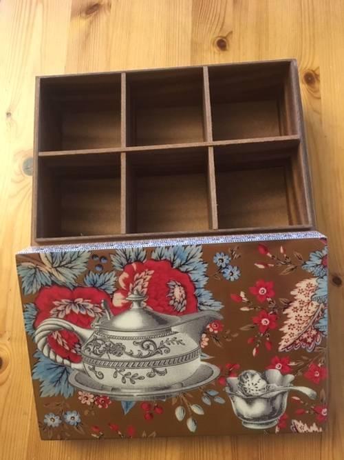 Plateau et boite à thé Fragonard