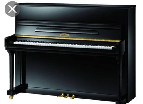 Piano droit noir laqué