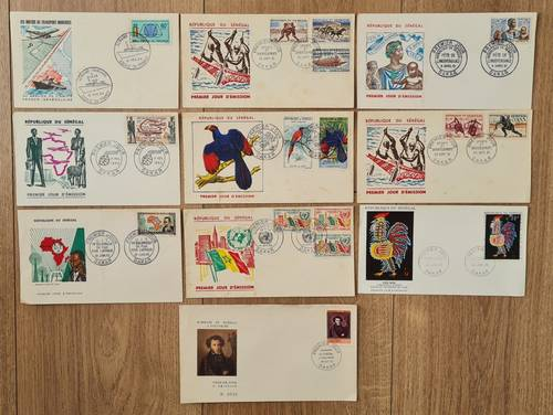Lot d'enveloppes timbrées premier jour - Sénégal