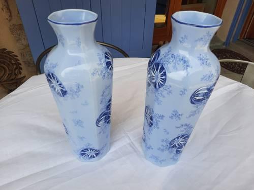 Paire de grands vases Fives Lille Art Nouveau