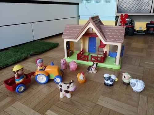 Lot ferme tracteur personnages animaux