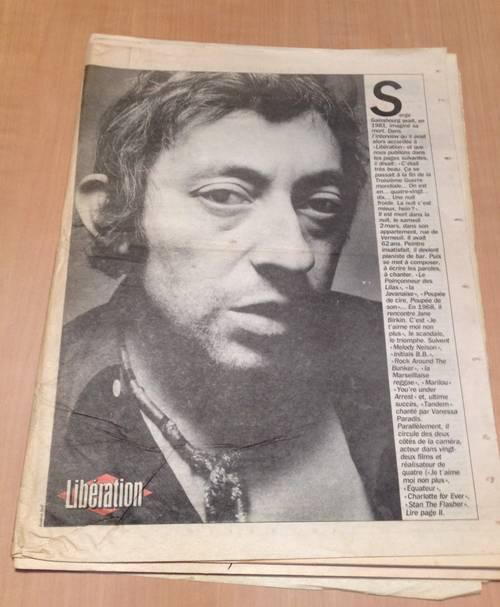 Libération 4/3/91- 2è édition - N° 3043- Mort de Serge Gainsbourg
