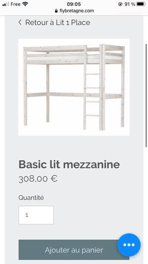 Vends Lit Mezzanine