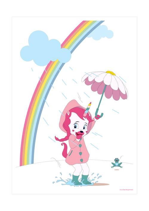 Affiche Lily heureuse - 21x29.7cm