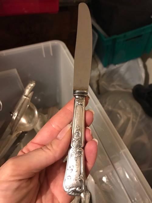 Service de couvert en métal argenté