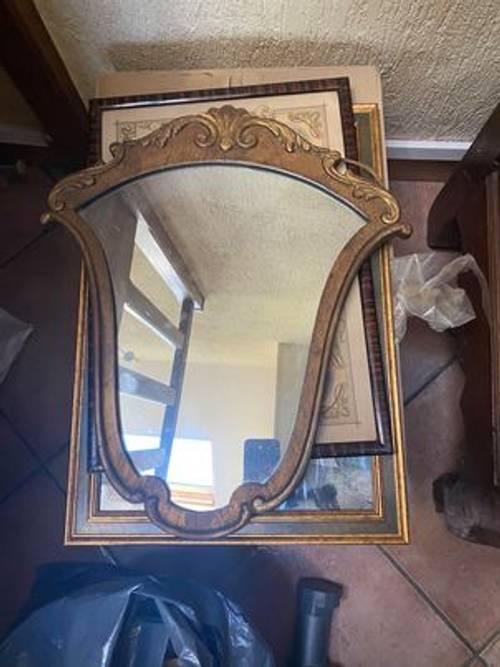 Vends miroir au mercure 19ème