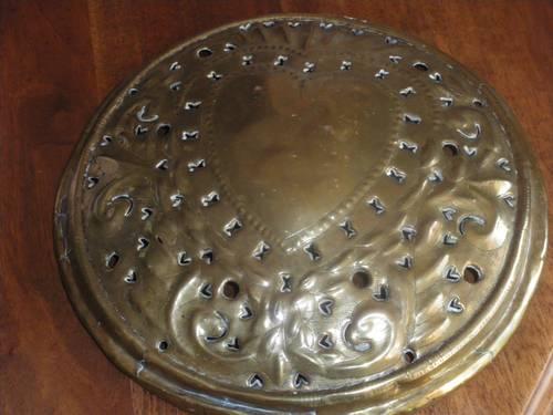 Couvercle de bassinoire en cuivre