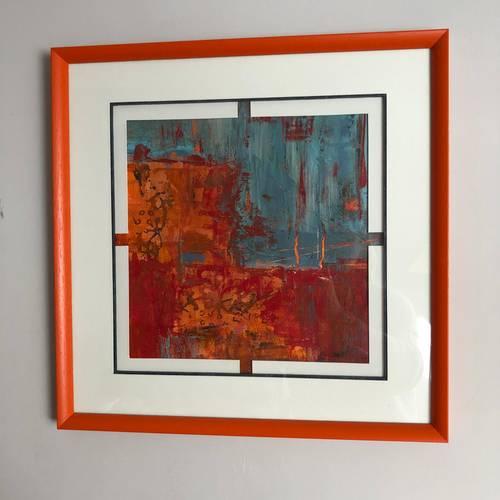 "Tableau art abstrait ""Vulcano"""