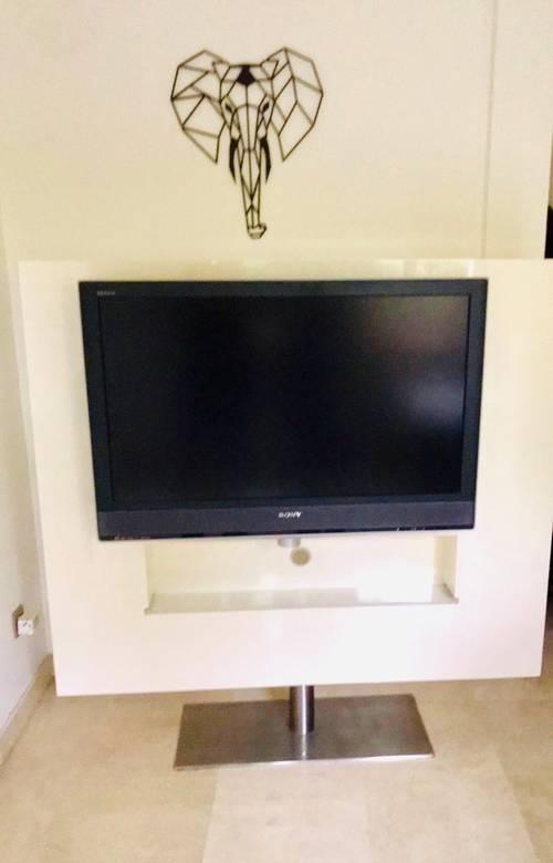 Meuble TV italien design blanc + TV Sony 130cm⭐️