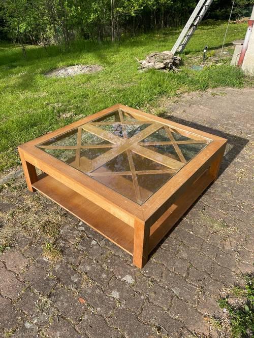Vends table basse en chêne