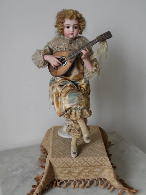 """Magnifique automate Lambert """"Le joueur de mandoline"""""""