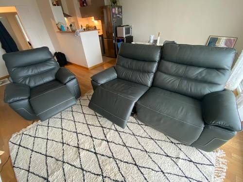 Canapé en cuir électrique relax neuf