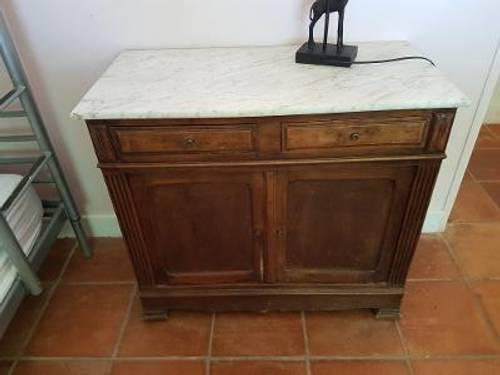 Commode plateau marbre