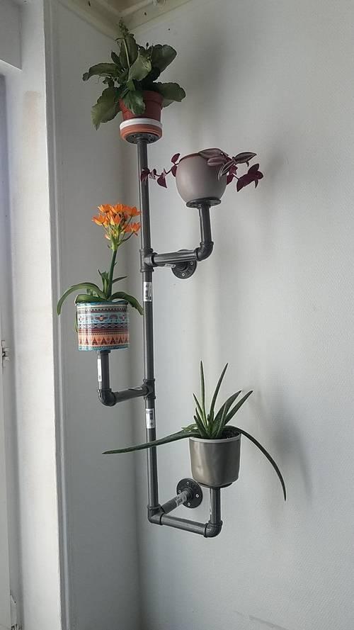 """Etagère plantes style industriel """"cactus"""""""