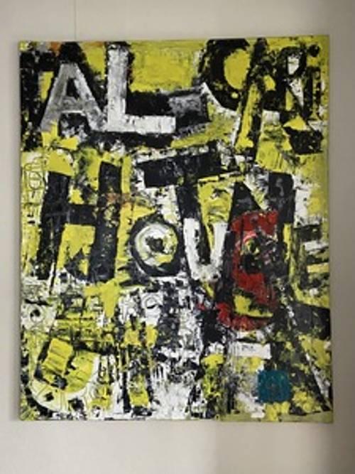 "Tableau Oeuvre originale ""Capital House"" Gérald FAIVRE COURTOT"