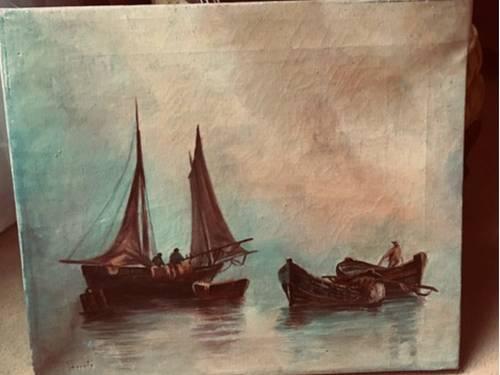 Vends belle marine XIXème (huile)