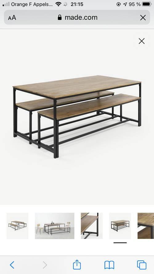 Table 6/8personnes + bancs