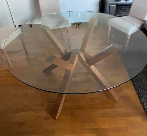 Vends table verre très belle