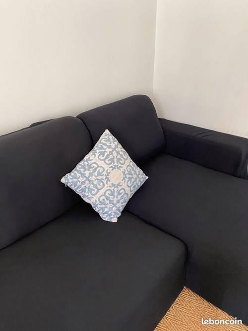 Canapé d'angle convertible en lit 2places et rangement en dessous
